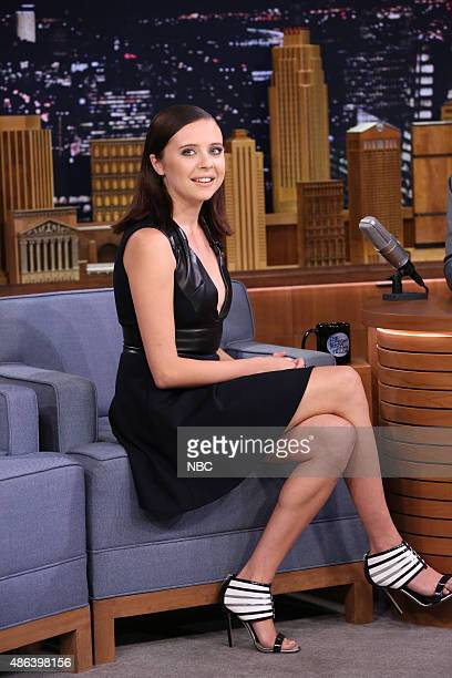 Actress Bel Powley during an interview on September 3 2015