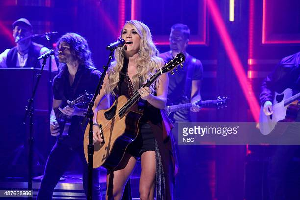 Musical guest Carrie Underwood performs on September 10 2015