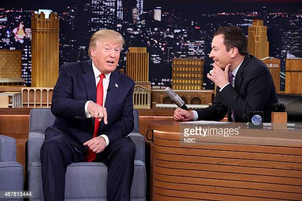 Donald Trump during an interview with host Jimmy Fallon on September 11 2015