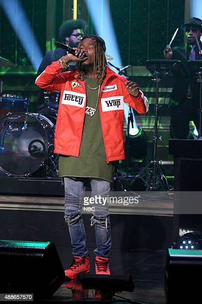 Musical guest Fetty Wap performs with The Roots on September 16 2015
