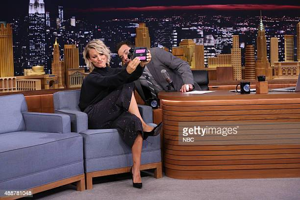 Actress Kaley Cuoco during an interview with host Jimmy Fallon on September 17 2015