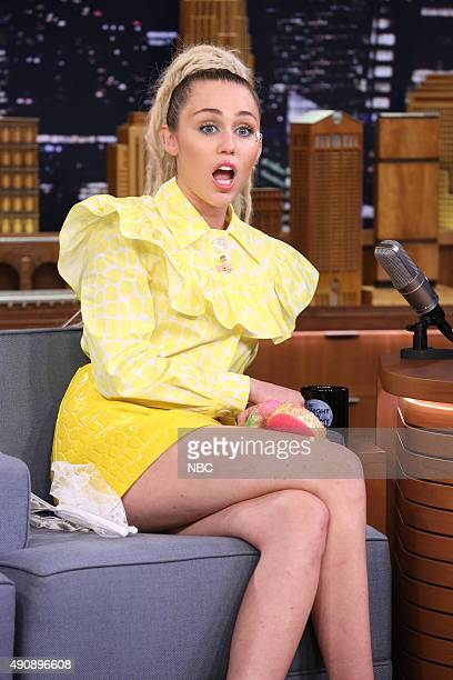 Musician Miley Cyrus on October 1 2015