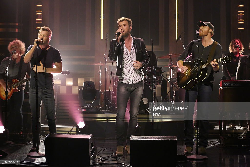 Musical guest Charles Kelley featuring Dierks Bentley and Eric Paslay performs on October 13 2015