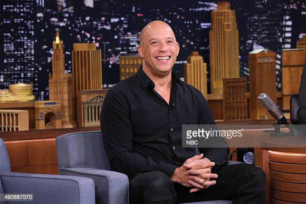 Actor Vin Diesel during an interview on October 14 2015