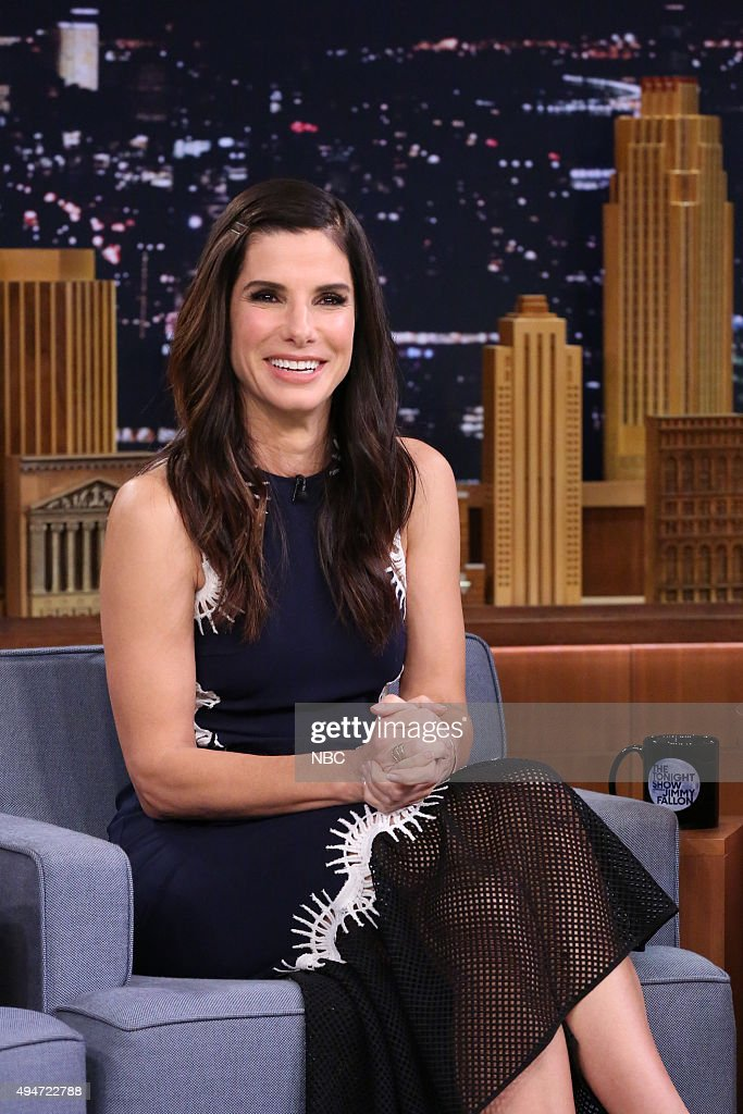 "NBC's ""The Tonight Show Starring Jimmy Fallon"" with guests Sandra Bullock, Rod Stewart"