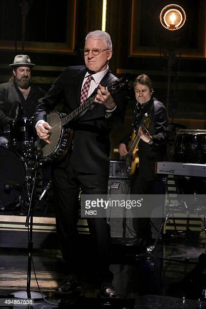 Musical guest Steve Martin performs on October 29 2015