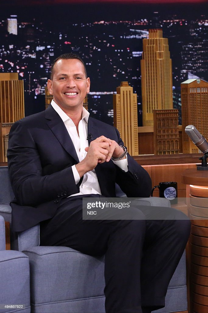 Professional baseball player <a gi-track='captionPersonalityLinkClicked' href=/galleries/search?phrase=Alex+Rodriguez+-+Baseball+Player&family=editorial&specificpeople=167080 ng-click='$event.stopPropagation()'>Alex Rodriguez</a> on October 29, 2015 --