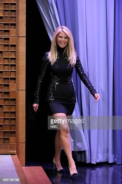 Model Christie Brinkley arrives on November 4 2015