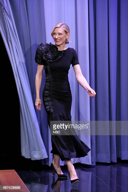 Actress Cate Blanchett arrives on November 16 2015