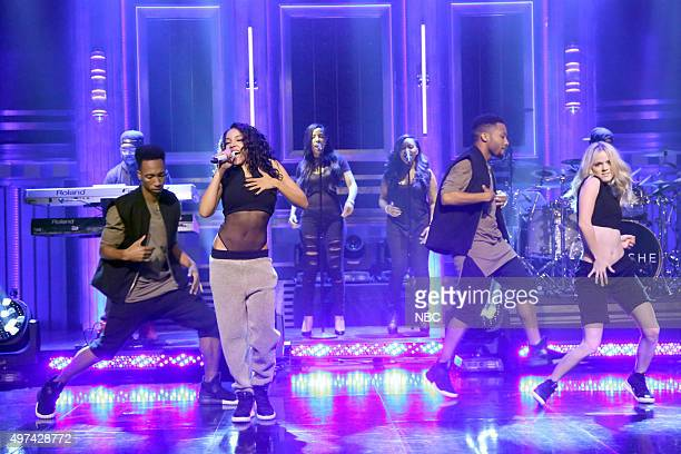 Musical guest Tinashe performs on November 16 2015