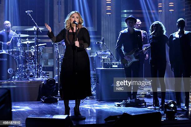 Musical guest Adele performs on November 23 2015