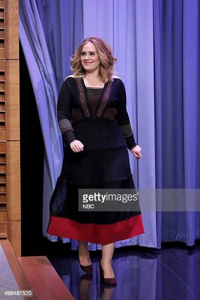 Singer Adele arrives on November 23 2015