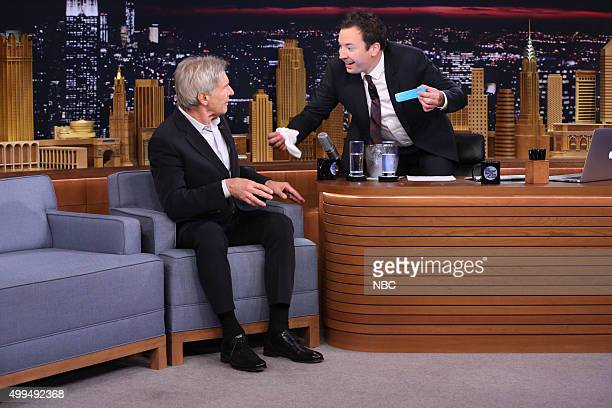 Actor Harrison Ford during an interview with host Jimmy Fallon on December 1 2015