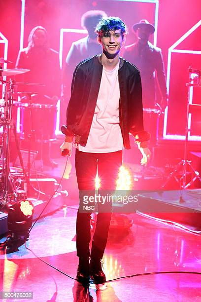 Musical guest Troye Sivan performs on December 8 2015