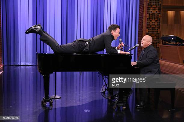 Host Jimmy Fallon and musician Billy Joel sing on January 6 2016