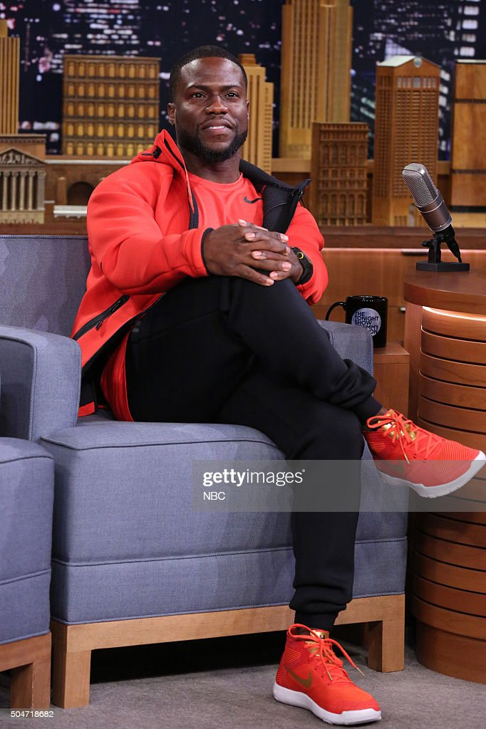 Actor Kevin Hart during an interview on January 12 2016