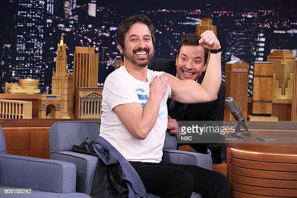Actor Ray Romano and host Jimmy Fallon during Explain This Photo on January 15 2016