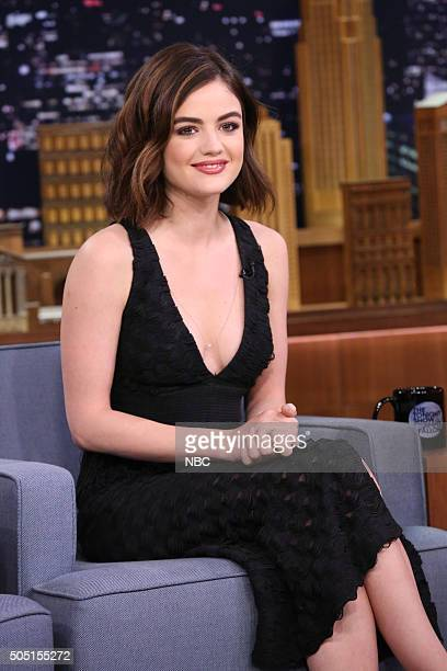 Actress Lucy Hale during an interview on January 15 2016