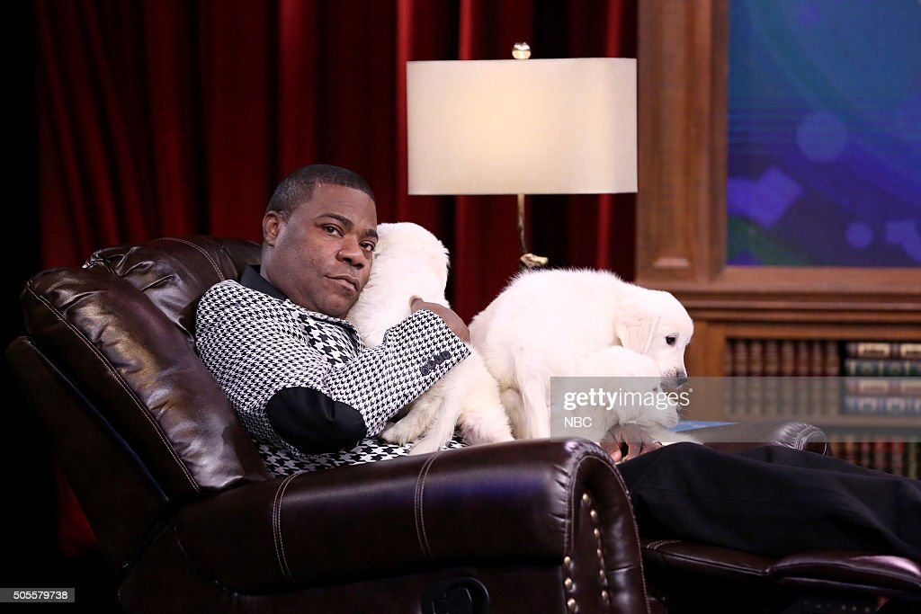 Comedian Tracy Morgan plays Pup Quiz on January 18 2016