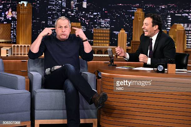 Actor Jeff Daniels during an interview with host Jimmy Fallon on January 22 2016