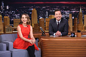 Actress Natalie Portman during an interview with host Jimmy Fallon on January 27 2016