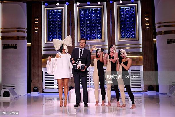Musical guest Sia performs on January 27 2016