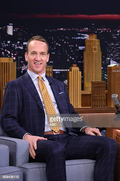 Football quarterback Peyton Manning on February 10 2016