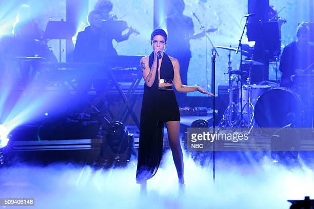 Musical guest Halsey performs on February 10 2016