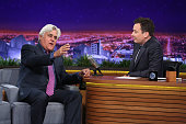 Comedian Jay Leno during an interview with host Jimmy Fallon on February 17 2016