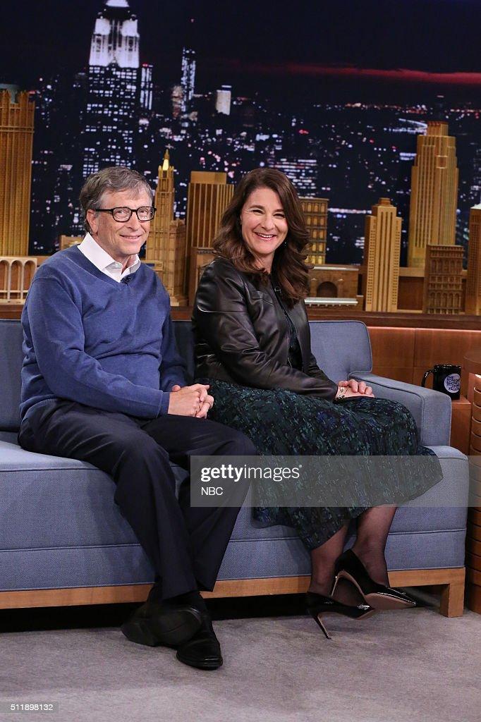 Bill Gates and Melinda Gates on February 23 2016