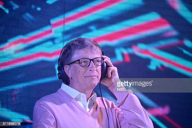 Bill Gates during the 'Gatesletter' viral video sketch on February 23 2016