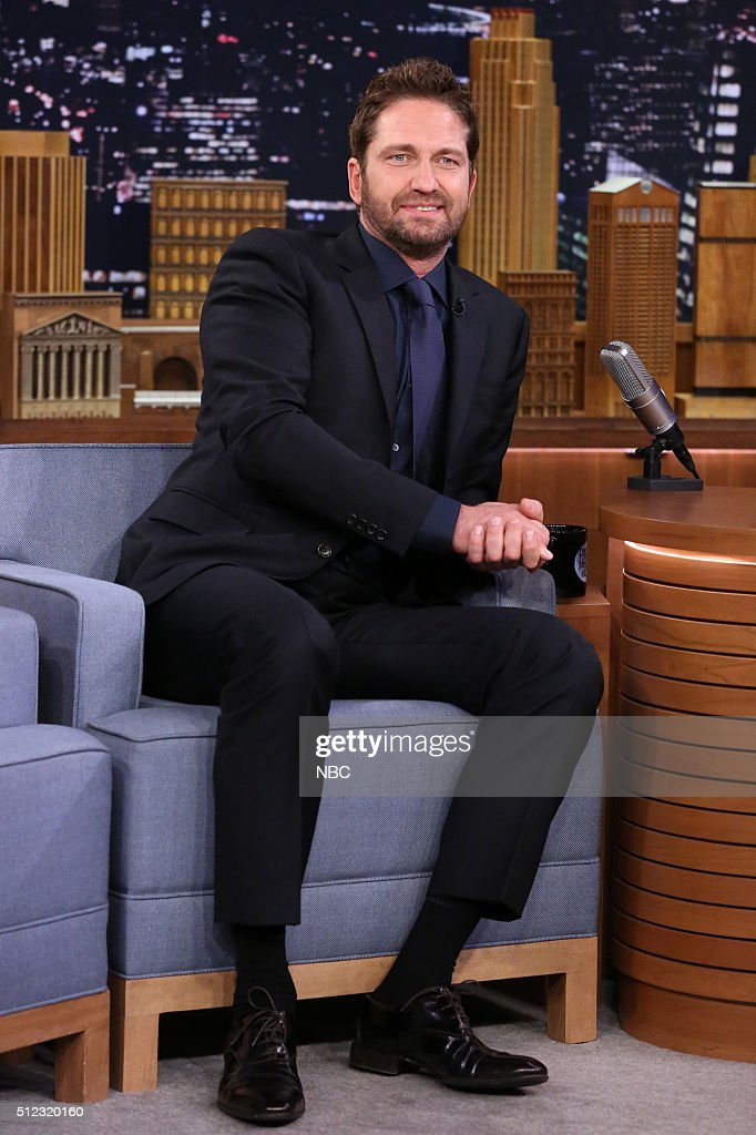 """NBC's """"The Tonight Show Starring Jimmy Fallon"""" with guests ... Gerard Butler 2016"""