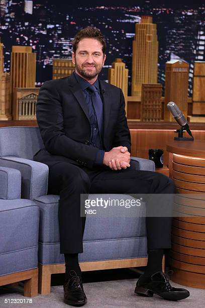 Actor Gerard Butler on February 25 2016