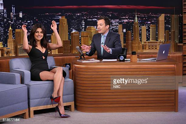 Actress Priyanka Chopra during an interview with host Jimmy Fallon on March 3 2016