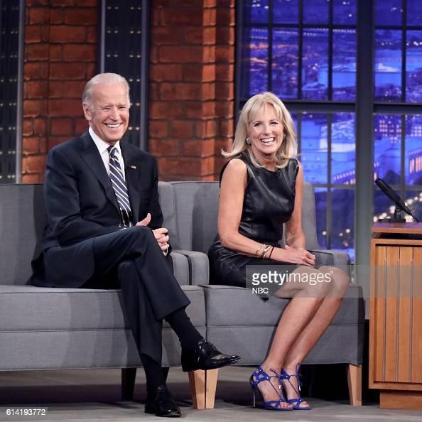 Vice President Joe Biden and Second Lady Dr Jill Biden during an interview on October 12 2016
