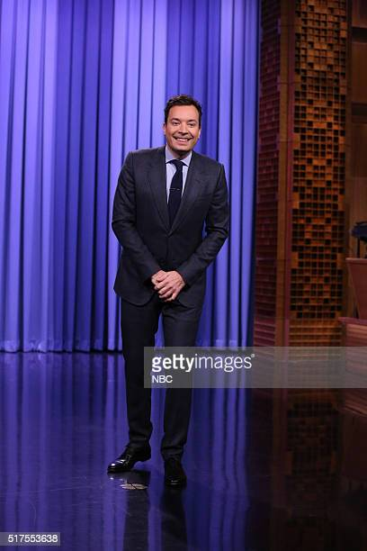 Host Jimmy Fallon delivers the monologue on March 25 2016
