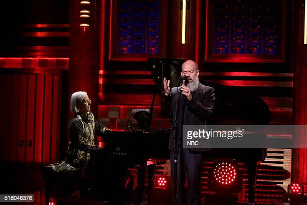 Musical guest Michael Stipe performs on March 29 2016