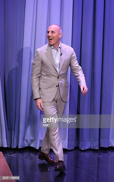 Journalist Matt Lauer arrives on April 27 2016