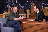 Comedian Marc Maron during an interview with host Jimmy Fallon on May 3 2016