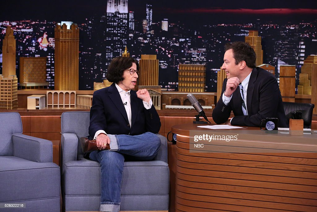 Author <a gi-track='captionPersonalityLinkClicked' href=/galleries/search?phrase=Fran+Lebowitz&family=editorial&specificpeople=984736 ng-click='$event.stopPropagation()'>Fran Lebowitz</a> during an interview with host <a gi-track='captionPersonalityLinkClicked' href=/galleries/search?phrase=Jimmy+Fallon&family=editorial&specificpeople=171520 ng-click='$event.stopPropagation()'>Jimmy Fallon</a> on May 4, 2016 --
