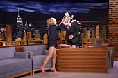 Actress Amy Sedaris during an interview with host Jimmy Fallon on May 5 2016