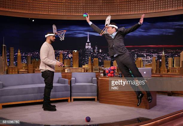 Rapper Drake plays Faceketball with host Jimmy Fallon on May 12 2016