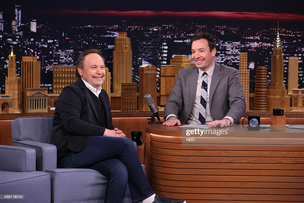 Actor Billy Crystal during an interview with host Jimmy Fallon on May 20, 2016 --