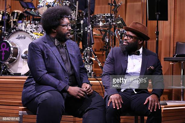 """Ahmir 'Questlove' Thompson and Tariq """"Black Thought"""" Trotter on May 24 2016"""