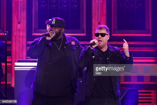 Musical guest DJ Shadow performs with Killer Mike and ElP of Run The Jewels on June 14 2016