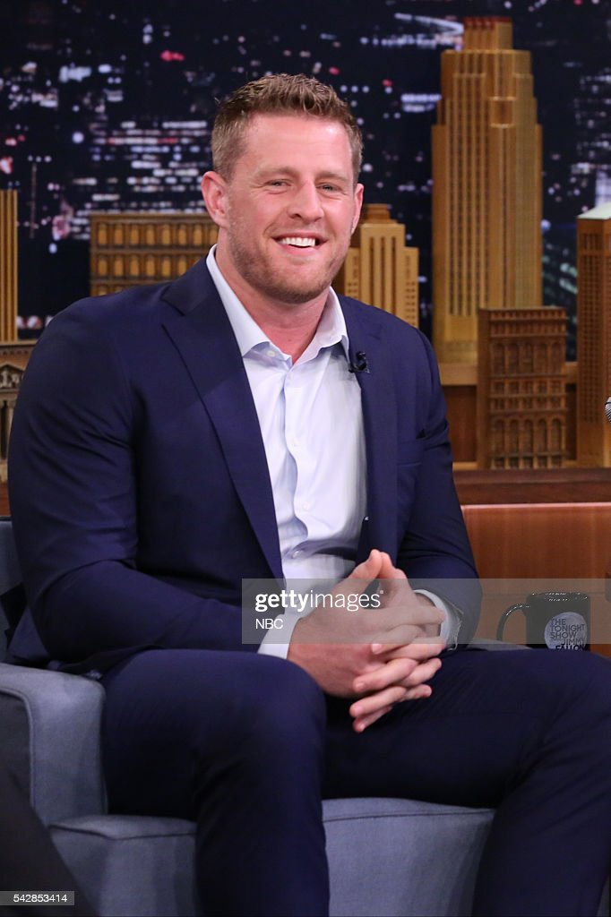 Professional football player <a gi-track='captionPersonalityLinkClicked' href=/galleries/search?phrase=J.J.+Watt&family=editorial&specificpeople=6243554 ng-click='$event.stopPropagation()'>J.J. Watt</a> on June 24, 2016 --