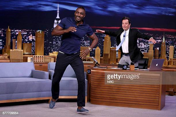 Actor Idris Elba during an interview with host Jimmy Fallon on July 19 2016