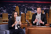 Actress Mila Kunis and host Jimmy Fallon during the 'Filtered Scenes' segment on July 20 2016