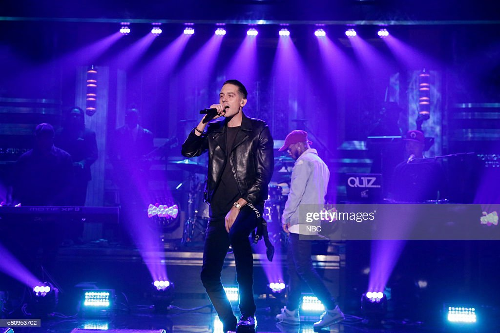 Musical guest GEazy performs on July 25 2016