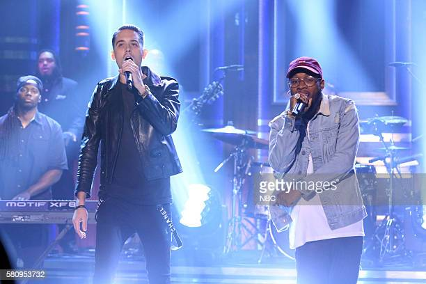 Musical guest GEazy performs with rapper Tory Lanez on July 25 2016